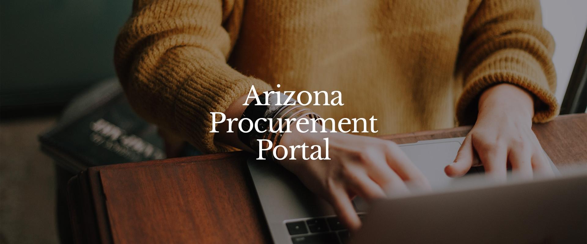 AZ Procurement Portal - Hero Image